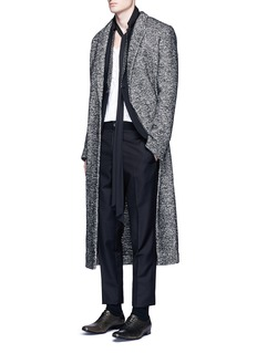Haider Ackermann Brushed fleece wool blend jacquard coat