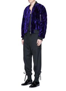 Haider AckermannCrushed velvet bomber jacket