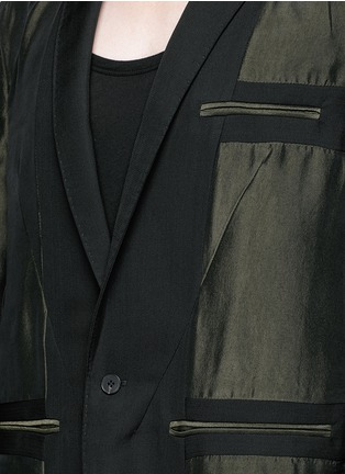 Detail View - Click To Enlarge - Haider Ackermann - Contrast reverse panel soft blazer
