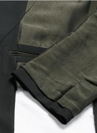 - Haider Ackermann - Contrast reverse panel soft blazer