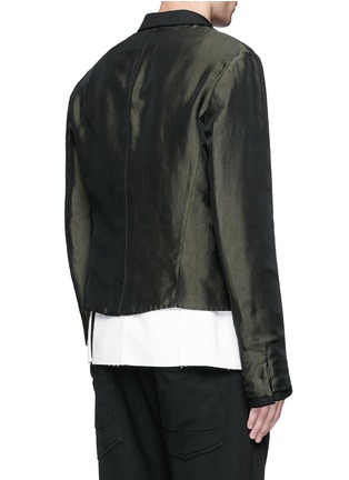 Back View - Click To Enlarge - Haider Ackermann - Contrast reverse panel soft blazer