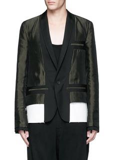 Haider AckermannContrast reverse panel soft blazer