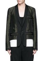 Contrast reverse panel soft blazer