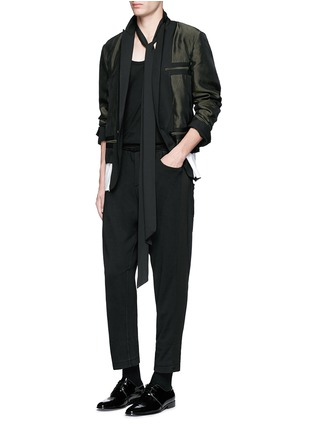 Figure View - Click To Enlarge - Haider Ackermann - Contrast reverse panel soft blazer