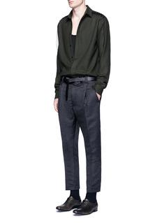 Haider AckermannLace-up insert fleece wool shirt