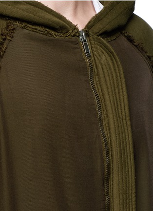 Detail View - Click To Enlarge - Haider Ackermann - 'Perth' oversized zip hoodie
