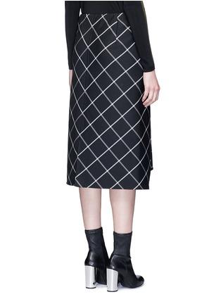 Back View - Click To Enlarge - rag & bone - 'Sabina' windowpane check midi pencil skirt