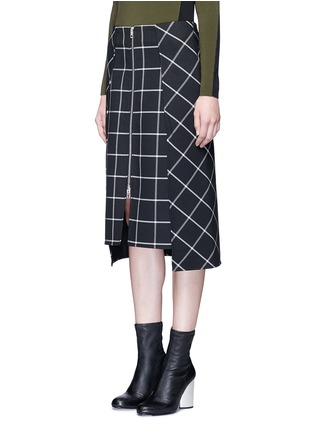 Front View - Click To Enlarge - rag & bone - 'Sabina' windowpane check midi pencil skirt