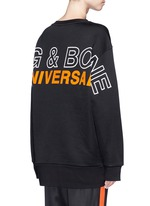 'Moto' oversized logo graphic print sweatshirt