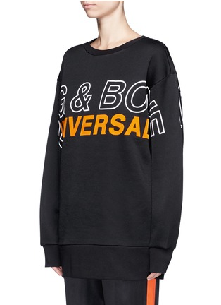 Front View - Click To Enlarge - rag & bone - 'Moto' oversized logo graphic print sweatshirt