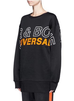 rag & bone-'Moto' oversized logo graphic print sweatshirt