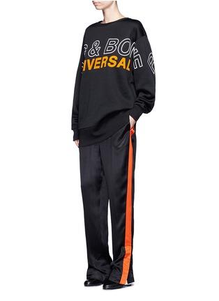 Figure View - Click To Enlarge - rag & bone - 'Moto' oversized logo graphic print sweatshirt