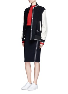 rag & bone Side zip double knit track skirt