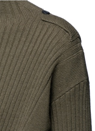 Detail View - Click To Enlarge - rag & bone - 'Dale' twist front Merino wool sweater