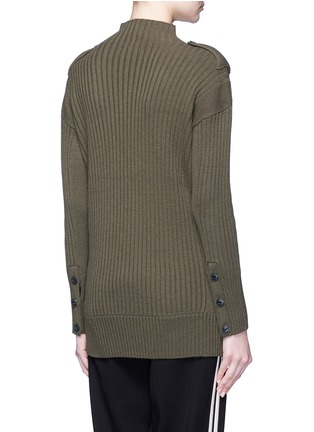 Back View - Click To Enlarge - rag & bone - 'Dale' twist front Merino wool sweater