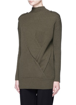 Front View - Click To Enlarge - rag & bone - 'Dale' twist front Merino wool sweater