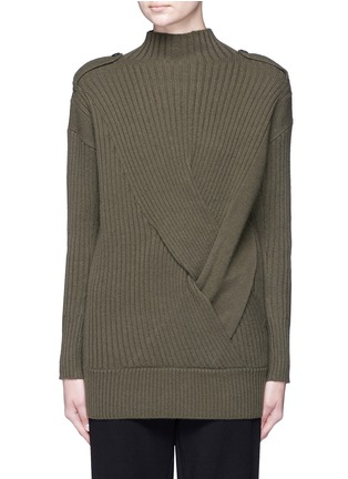 Main View - Click To Enlarge - rag & bone - 'Dale' twist front Merino wool sweater