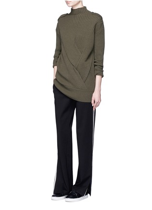 Figure View - Click To Enlarge - rag & bone - 'Dale' twist front Merino wool sweater