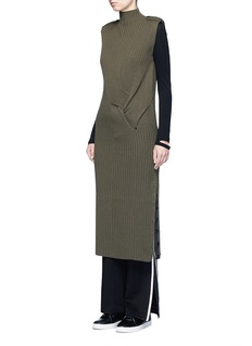 rag & bone 'Dale' twist front Merino wool dress
