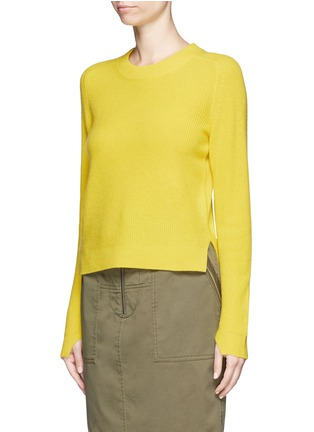 Front View - Click To Enlarge - rag & bone - 'Valentina' cashmere cropped sweater