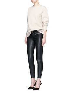 J Brand 'Emma' lambskin leather skinny pants