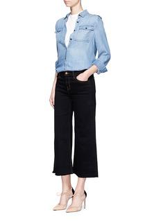 J Brand'Liza' cotton denim culottes