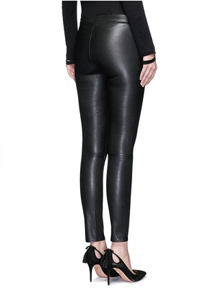 Back View - Click To Enlarge - J Brand - 'Edita' lambskin leather leggings