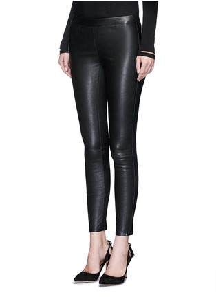Front View - Click To Enlarge - J Brand - 'Edita' lambskin leather leggings