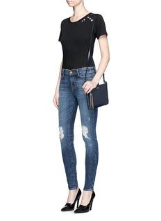 J Brand'Super Skinny' distressed denim pants