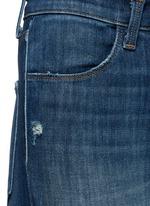 水洗磨破牛仔布长裤