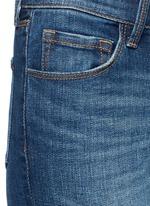 SELENA水洗八分喇叭牛仔裤