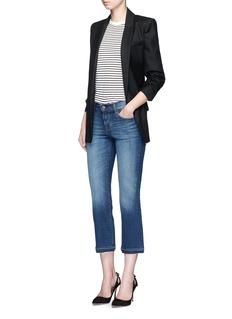 J Brand'Selena' cropped boot cut jeans