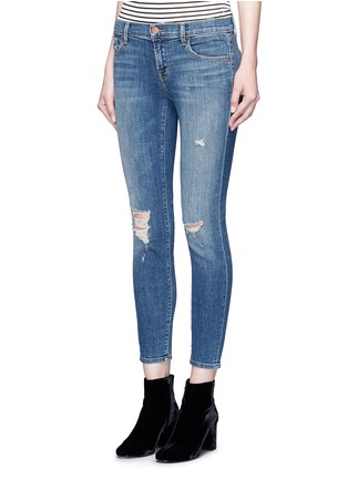 Front View - Click To Enlarge - J Brand - Distressed cropped skinny jeans
