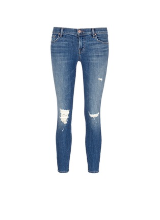Main View - Click To Enlarge - J Brand - Distressed cropped skinny jeans