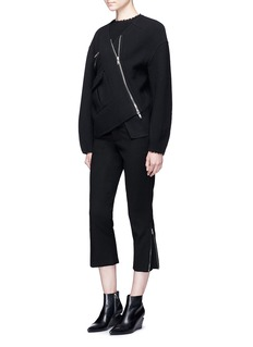 Ms MIN Zip trim wool cropped pants