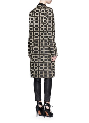 Back View - Click To Enlarge - Haider Ackermann - Check jacquard linen-silk coat