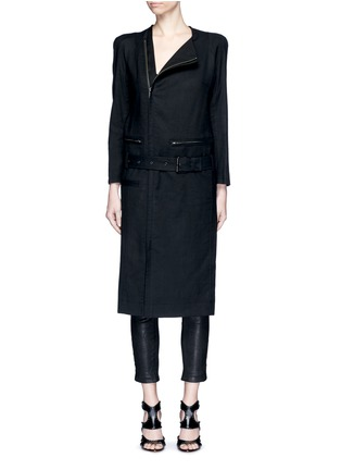 Main View - Click To Enlarge - Haider Ackermann - 'Maban' linen-wool biker coat