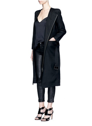 Figure View - Click To Enlarge - Haider Ackermann - 'Maban' linen-wool biker coat