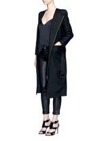 'Maban' linen-wool biker coat