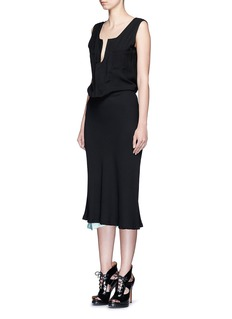 HAIDER ACKERMANN 'Phaseolus' hook closure silk lined crepe dress