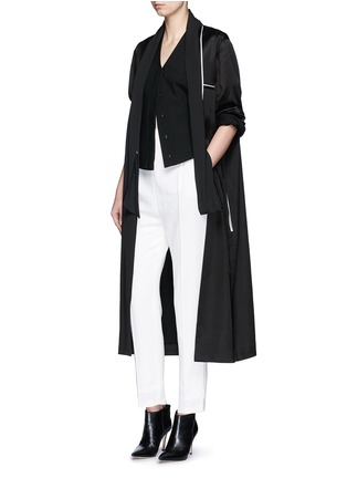 Figure View - Click To Enlarge - Haider Ackermann - 'Phaseolus' pleat front crepe pants