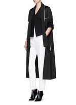 'Phaseolus' pleat front crepe pants