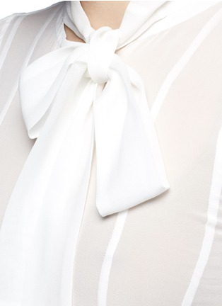 Detail View - Click To Enlarge - Haider Ackermann - Layered ruffle sleeve silk chiffon top
