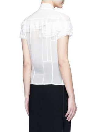 Back View - Click To Enlarge - Haider Ackermann - Layered ruffle sleeve silk chiffon top