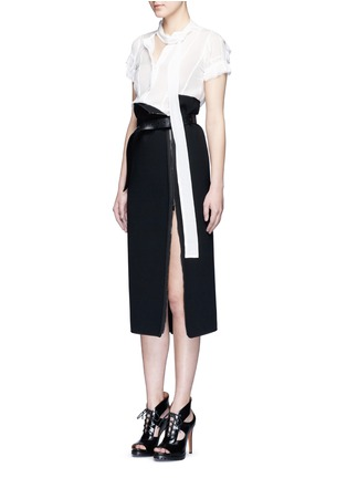 Figure View - Click To Enlarge - Haider Ackermann - Layered ruffle sleeve silk chiffon top