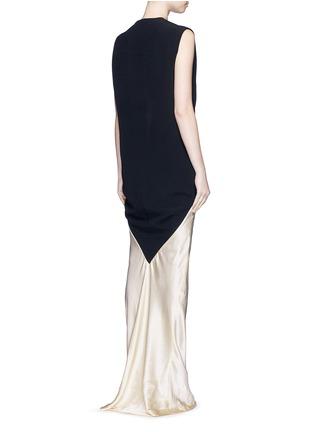 Back View - Click To Enlarge - Haider Ackermann - 'Iteso' silk satin mermaid hem sleeveless dress