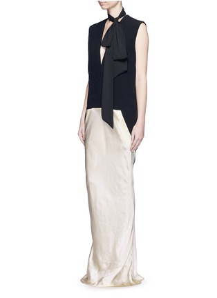 Figure View - Click To Enlarge - Haider Ackermann - 'Iteso' silk satin mermaid hem sleeveless dress