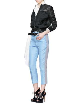 Figure View - Click To Enlarge - Haider Ackermann - 'Ekumuru' side stripe linen-silk pants
