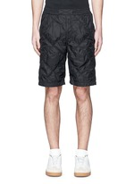 Diamond quilted tech shorts