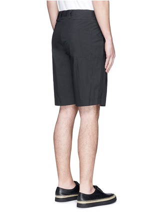 Back View - Click To Enlarge - Alexander Wang  - Double pleated front shorts